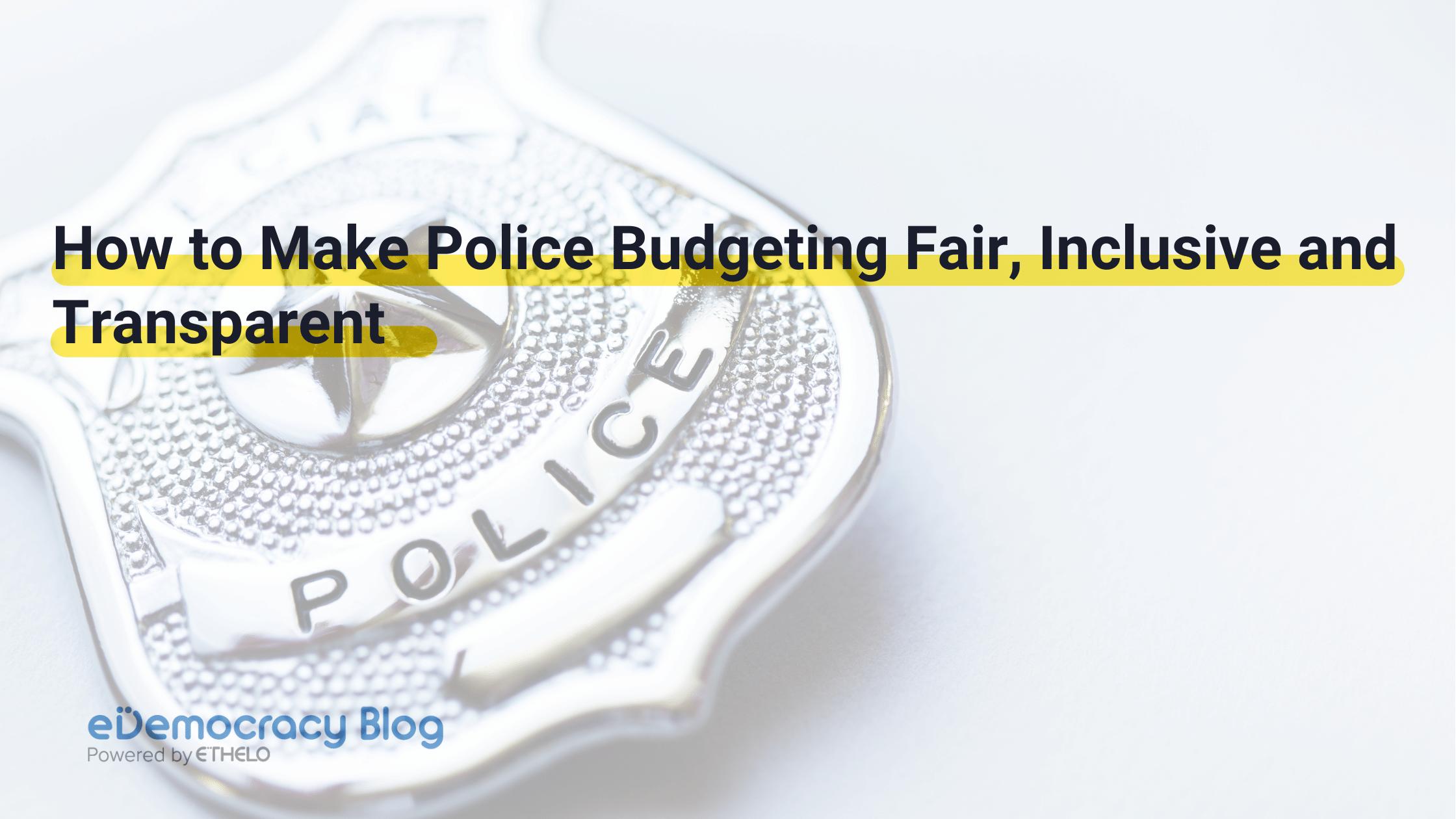 Police Budgeting