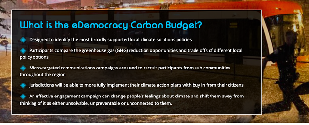 What is the eDemocracy Carbon Budget?